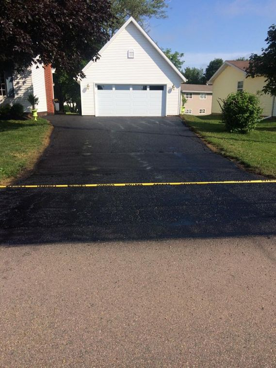 driveway after sealing